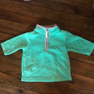 Baby girls 3/4 zip fleece